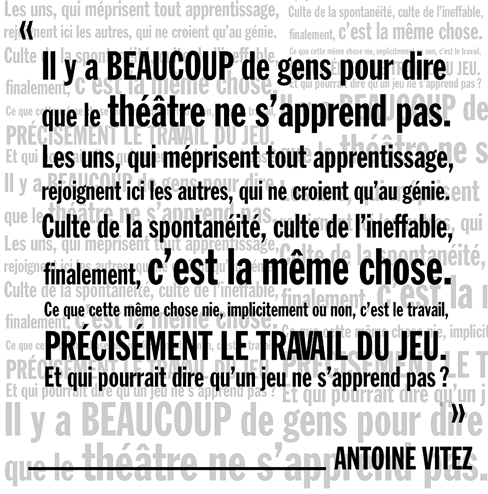 citation Antoine Vitez